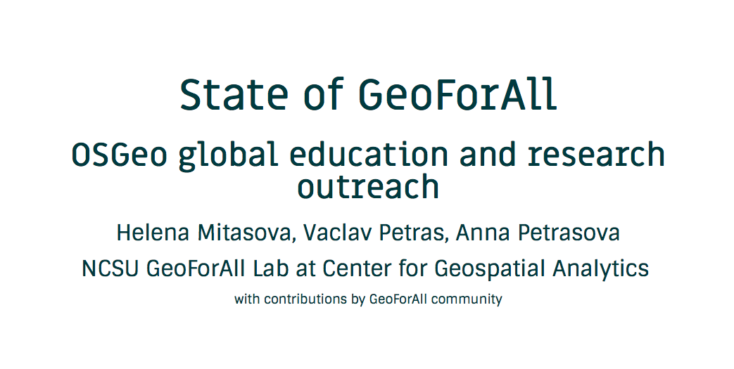 State of GeoForAll